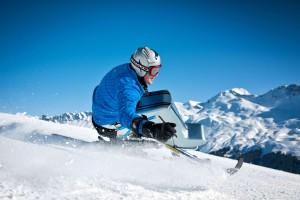 Silvano Beltrametti im Mono ski